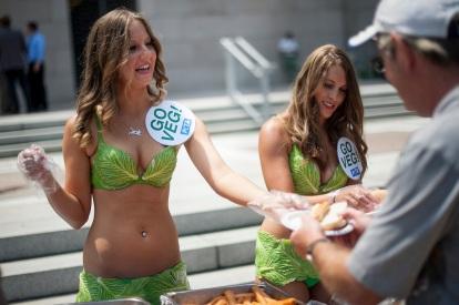 PETA Lettuce Ladies On Capitol Hill